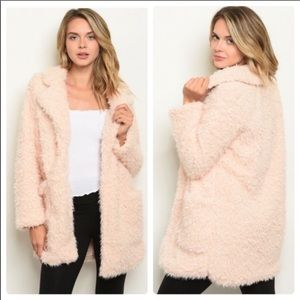 NWT. Blush Sherpa faux fur jacket,